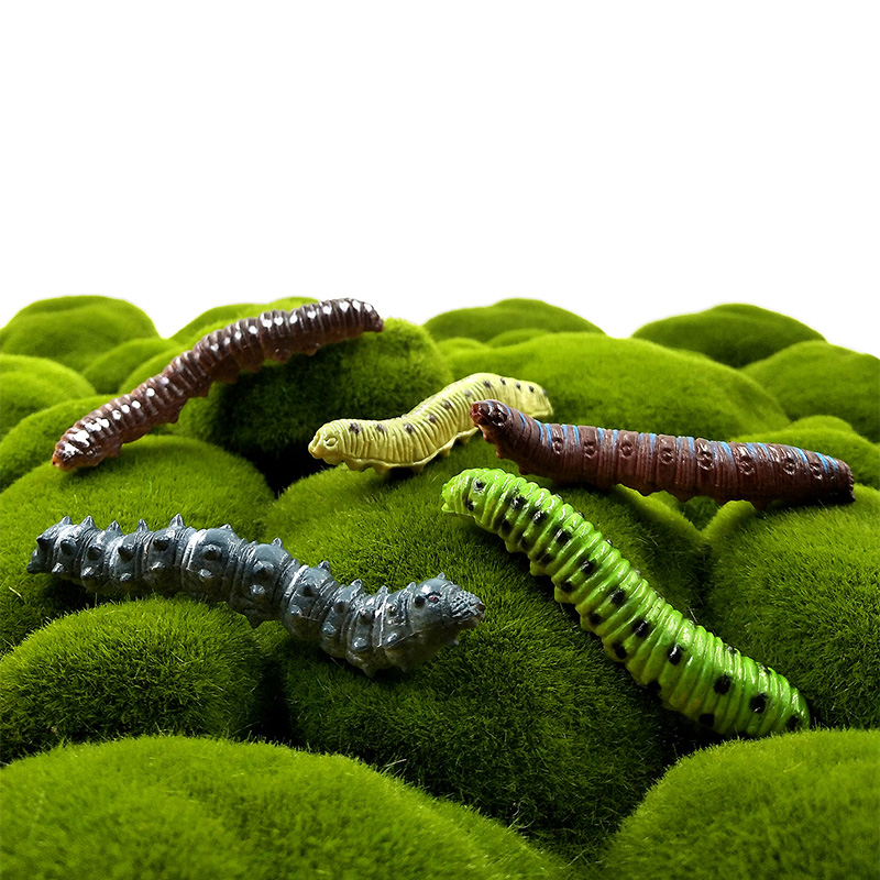 12Pc Lifelike Group Artificial insect Worm plastic animal model doll action figure DIY Decoration hot set toys for children gift in Action Toy Figures from Toys Hobbies