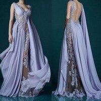 Formal Dress Chiffon Evening Gown Abendkleid Custom Made Evening Gowns Avondjurk Vestido de noche Robe de soiee Pageant Dress