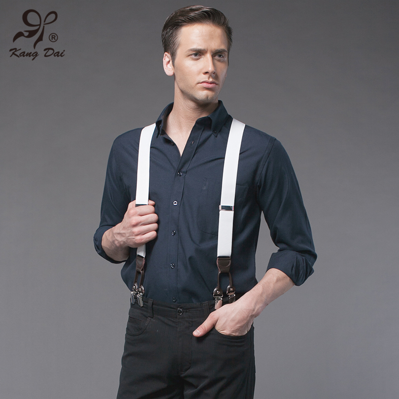 176eba811b Alloy 6 Clips Leather Suspenders for Men Vintage Fashion Casual Suspenders  Commercial Western style Man s Braces Trousers Straps-in Suspenders from  Apparel ...