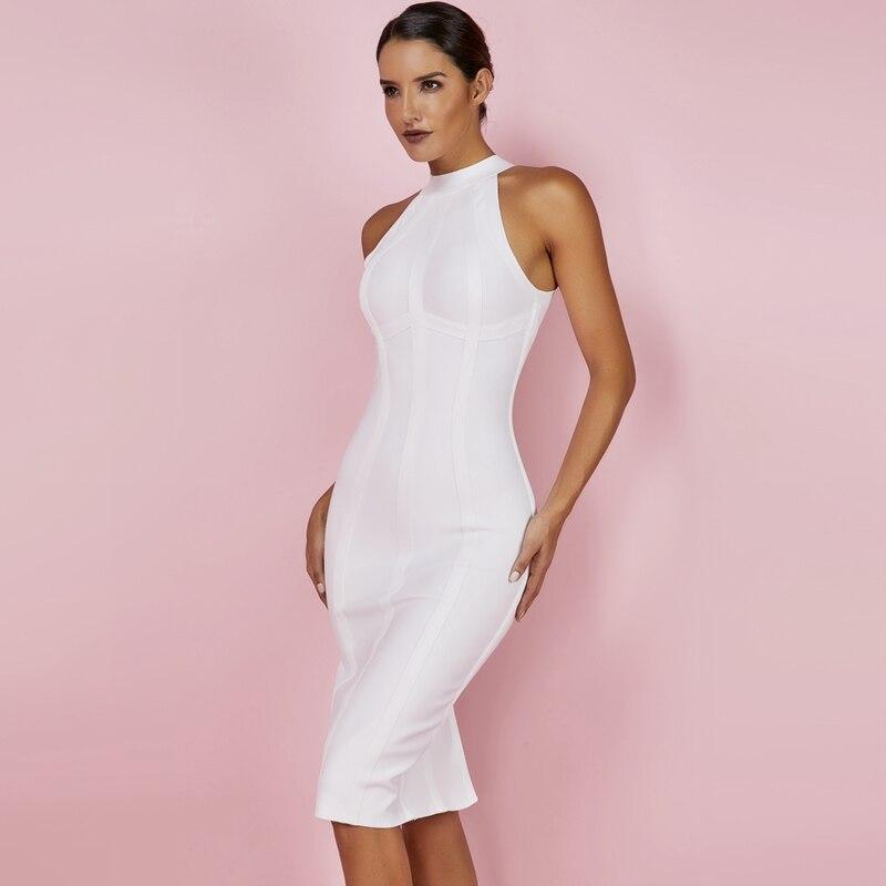 Женское облегающее платье с оленем летнее женское 2019 Белое