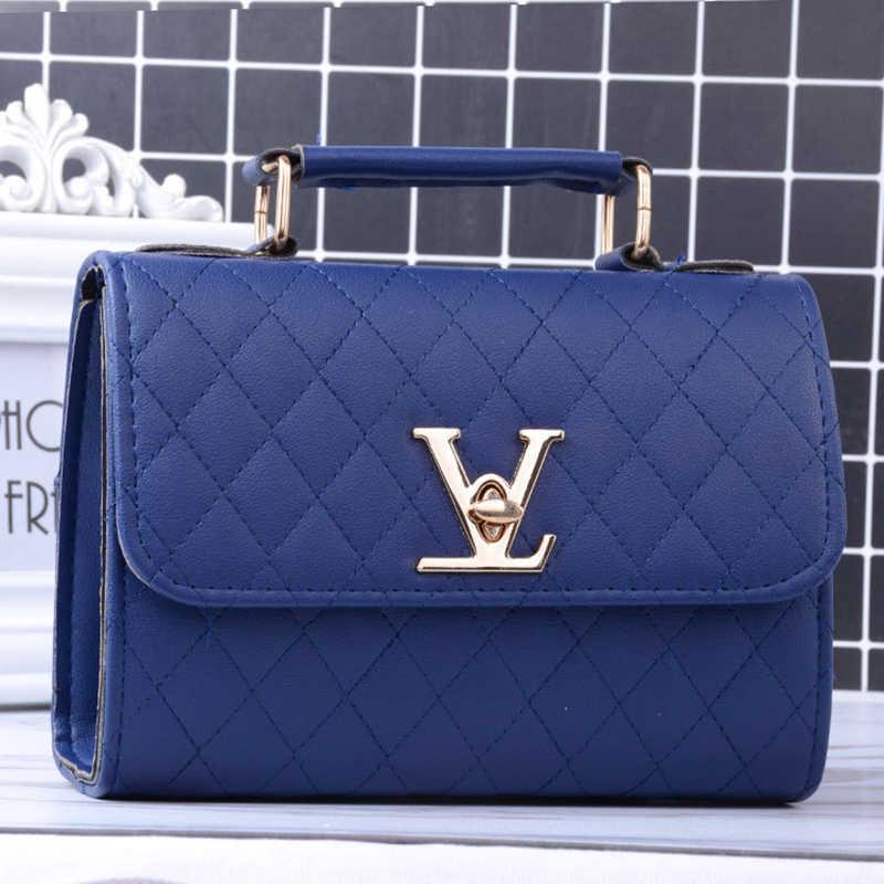 Luyo Fashion Kulit V Kecil Gaya Mewah Tas Tangan Wanita Tas Desainer Selempang untuk Merek Terkenal Tas Messenger Louis Bolsa