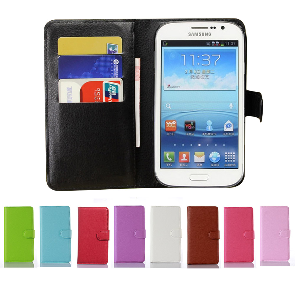 Lujosa Funda Tipo Libro De Piel Sintética Para Samsung Galaxy Grand Neo Plus I9060 I9060i Grand Duos I9082 Funda Tipo Billetera Case For Samsung Galaxy Case For Samsungflip Case Aliexpress