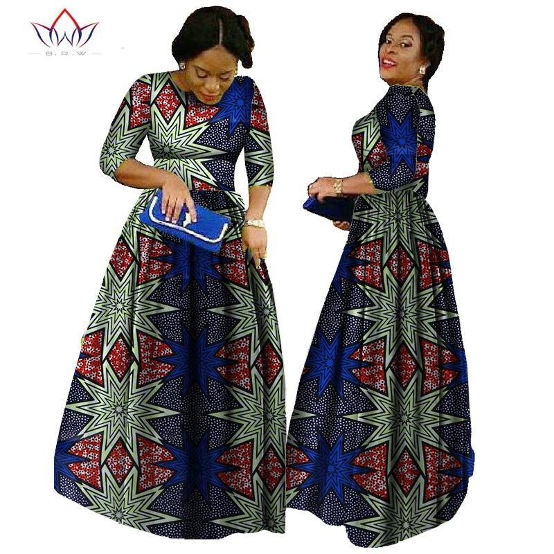 Afrika qadınlar üçün 2019 african bazin paltar african uzun - Qadın geyimi - Fotoqrafiya 3