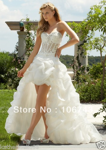 2018 Direct Selling Promotion Wrap Floor-length free Shipping Sexy sweetheart High-low Corset Bridal Gown   bridesmaid     dresses