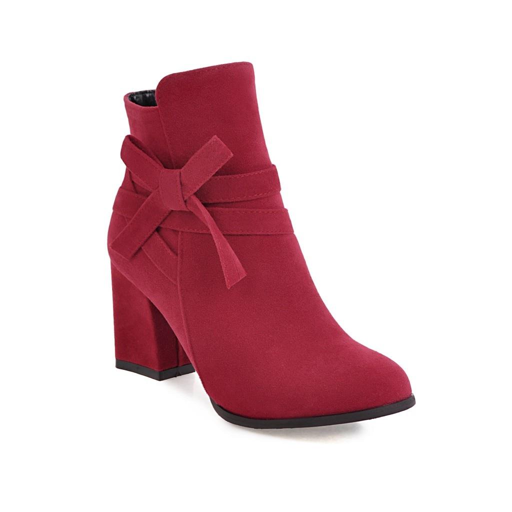 Tacón Raquetas Beige Casual negro Botas Zapatos Primavera Dulce rojo Cena amarillo Adecuado Señoras 7 Tobillo 2019 Para Mujeres Cm Otoño g6a8TnwPqx