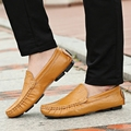 2017 Big Size 36~50 High Quality Genuine Leather Men Shoes Soft Moccasins Loafers Fashion Brand Men Flats Comfy Driving Shoes