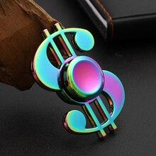 Симфония доллар Непоседа Спиннер красочные вращающиеся декомпрессии отпечаток пальца взрослого Развивающие игрушки для детей ручной Спиннер