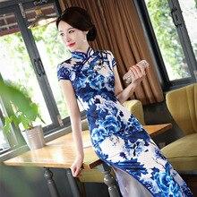 New Spring White Sexy Traditional Chinese Female Dress Handmade Button Flower Long Qipao Slim Mandarin Collar Cheongsam M-3XL
