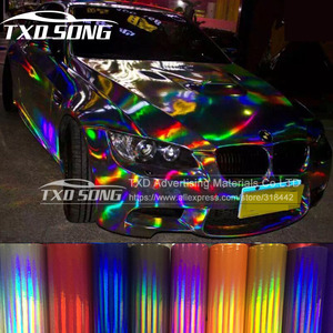 Image 1 - TXD hot product holographic rainbow film foil for car wrap vinyl 20*149CM/LOT with free shipping