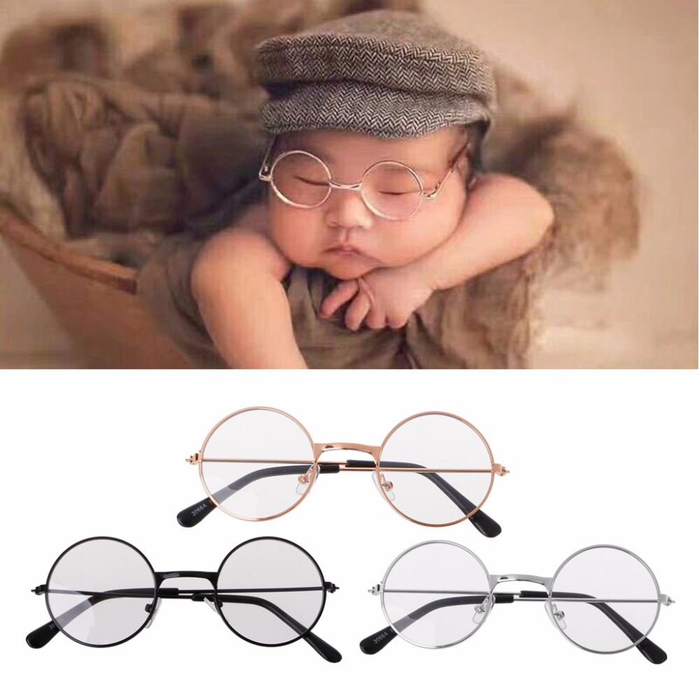 KLV Newborn Baby Clothing Accessories Girl Boy Flat Glasses