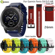 Hero Iand 26mm Replacement Silicone Quick Release watchBand Strap For Garmin Fenix 5X for 3 HR Watchband Easyfit