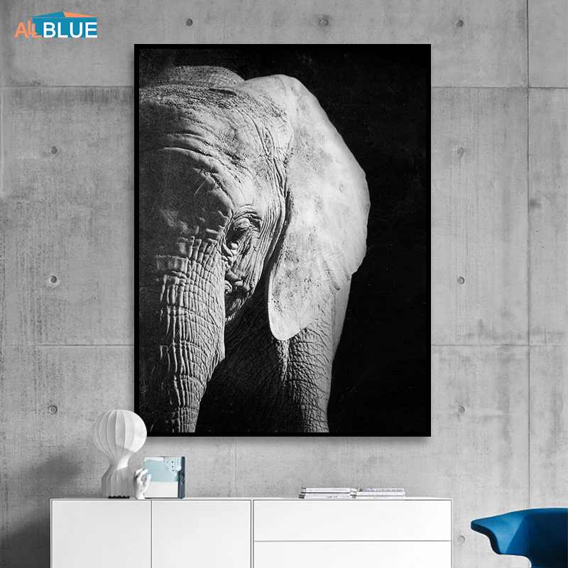 Large 40x40cm Square Canvas Decorative Wall Painting Picture Elephants Print