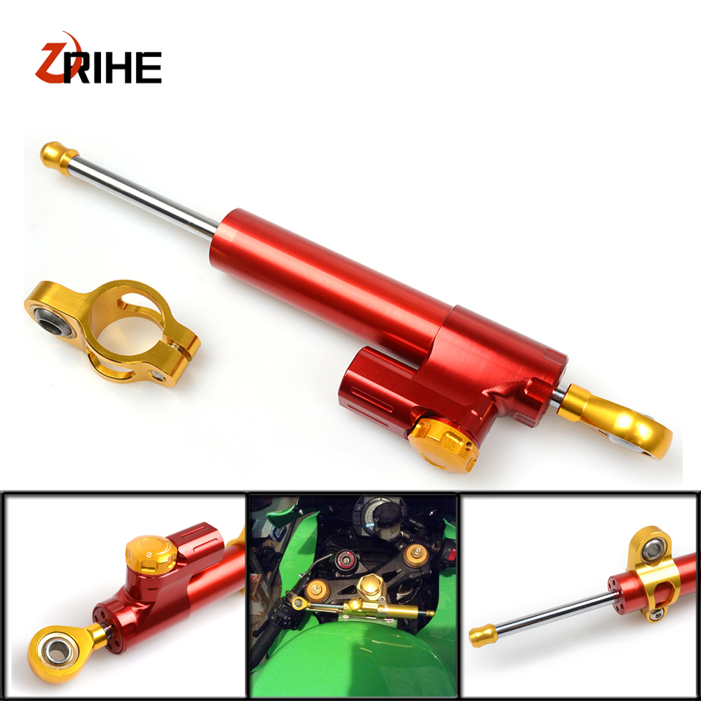 MT07 MT09 YZF R1 R6 R3 Z800 Z750 Z1000 ER6N ER6F Motorcycle Accessories Stabilizer Damper Steering For Honda Yamaha YZF R3 motorcycle steering damper stabilizer with mounting bracket adapter set for yamaha yzf r1 yzfr1 yzf r1 1999 2005