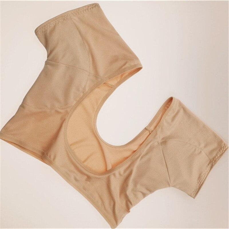 1Pc T-shirt Shape Sweat Pads Reusable Washable Underarm Armpit Sweat Pads Perfume Absorbing Anti M L Model Normal Size Plus Size