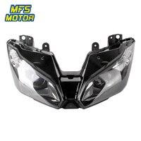 Para Kawasaki Ninja 13-15 ZX-6R ZX6R ZX636 6R ZX Motocicleta Frente Farol Head Light Lâmpada Farol Assembléia 2013 2014 2015