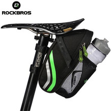 ROCKBROS Outdoor Cycling Mountain Bike Back Seat Bicycle Rear Bag Nylon Bike Saddle Bag Tail Pouch Package Bicycle Accessories
