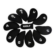 10 шт. клюшка для гольфа железная крышка головки клюшки защитные колпаки набор неопрена Черный Лидер продаж