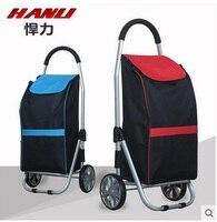 christmas Huli Shopping Cart Buy a cart a small pull cart Folding trolley aluminum portable luggage carts luggage trailer