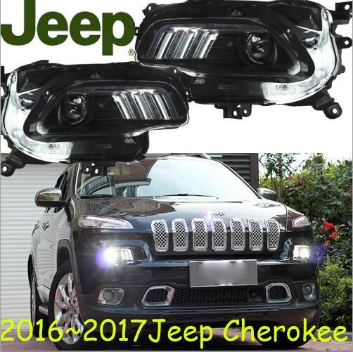 Cherokee phare avant, Cherokee lumière avant, 2016 ~ 2017, Fit LHD, livraison gratuite! Cherokee feu antibrouillard 2 ps/ensemble + 2 pièces Ballast; Cherokee
