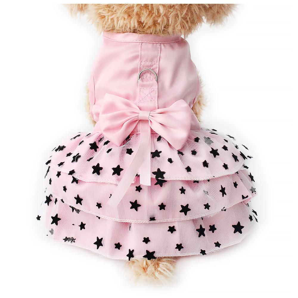 Armi store Nero Star Pattern Summer Dog Dress Cani Principessa Abiti 6071033 Pet Pink Skirt Abbigliamento Forniture XXS XS S M L XL