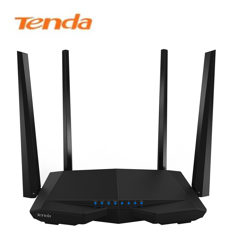 Wireless Wifi Router Tenda AC6 WI FI Repeater 802 11AC 1200Mbps Dual Band VPN English Firmware