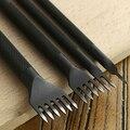4mm Leather Tool Craft Punzones Herramienta de Perforación de Costura Del Cordón 1/2/4/6 Diente