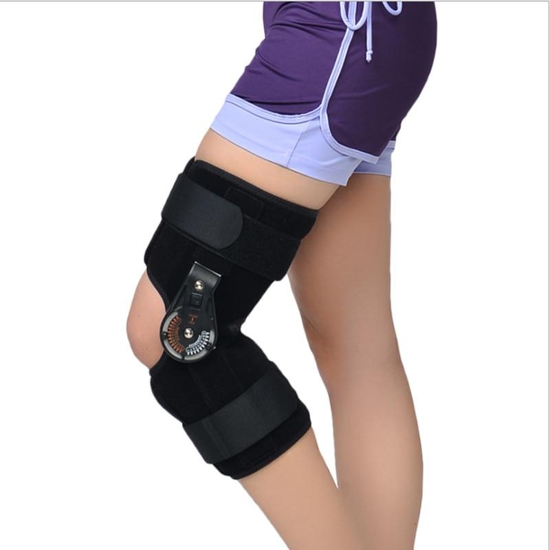new Adjustable Medical Hinged Knee Orthosis Brace Support Ligament Sport Injury Orthopedic Splint Osteoarthritis Knee Pain Pads medical orthopedic hinged knee brace support adjustable splint stabilizer wrap sprain hemiplegia flexion extension