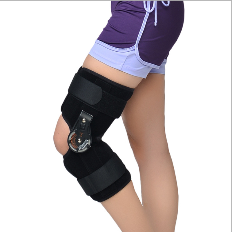 new Adjustable Medical Hinged Knee Orthosis Brace Support Ligament Sport Injury Orthopedic Splint Osteoarthritis Knee Pain Pads
