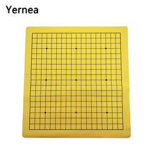 Yernea Go Game Chess board One Side Weiqi Chessboard Synthetic Leather Flannelette Checkerboard 19 Line Road Chess Games bstfamly go chess 19 road chessboard 50 46 0 1cm pu and plush checkerboard old game of go weiqi for 2 2cm piece checker gb08