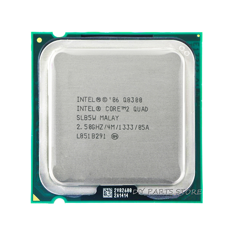 Processore 4 core INTEL Core 2 Quad Q8300 con processore LGA 775CPU 2,5 Ghz / 4 M / 1333 GHz)