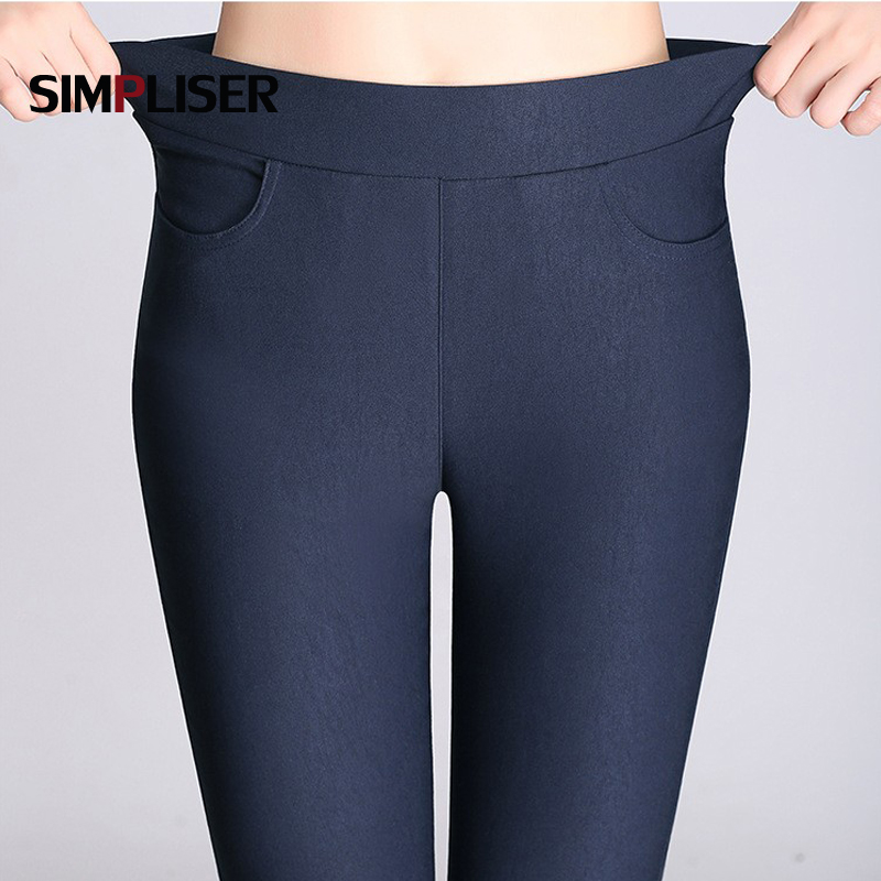 Candy Color Pants Women High Stretch   Leggings   2019 Black Blue White Female Skinny Pencil Pants Plus Size Ladies Trousers Casual