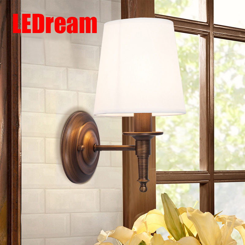 LEDream American country berth lamp, wrought iron single head wall lamp, european-style sitting room  passageway porch light stephen frey the successor