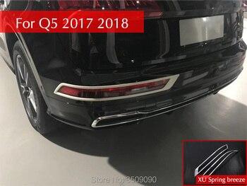 Автомобильный задний противотуманный фонарь Накладка бампера Свет Декор полосы отделкой наклейки для автомобиля Audi Q5 2017 2018 >> XU Spring breeze trading company Store