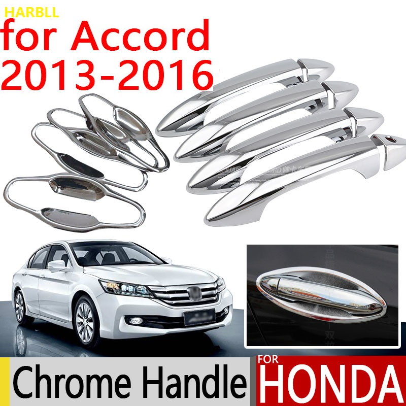 For <font><b>Honda</b></font> <font><b>Accord</b></font> 2013-<font><b>2016</b></font> <font><b>Accessories</b></font> Chrome Door Handle 2014 2015 Luxury No Rust Car Covers Stickers Car Styling image