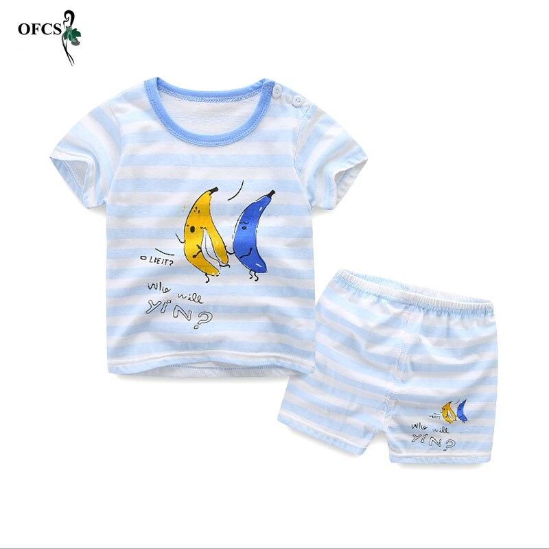 2 шт. костюм Одежда для маленьких мальчиков и девочек детские летние для маленьких мальчиков комплект одежды с героями мультфильмов розничн...