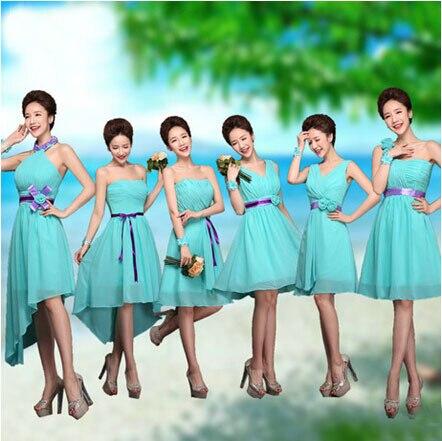 d2b155a0ca Vestidos de damas de honor color azul turquesa – Vestidos baratos