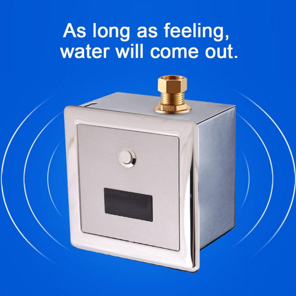 Sensor Urinal Wall Mount Lavatory Automatic Sensing Urinal Flush Valve Toilet Faucet Taps Urinal Flush Valve