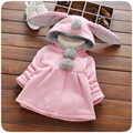 Baby girl baby winter clothes coat cartoon bunny ears long sleeve hooded jacket girl autumn girl clothes new jacket