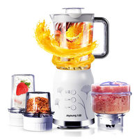 Famous Brand Electric Multi Meat Grinders with 4 Cups 3 Knives Fruit Juicer Maker Machine Mini Blenders Mixer Baby Food Machine