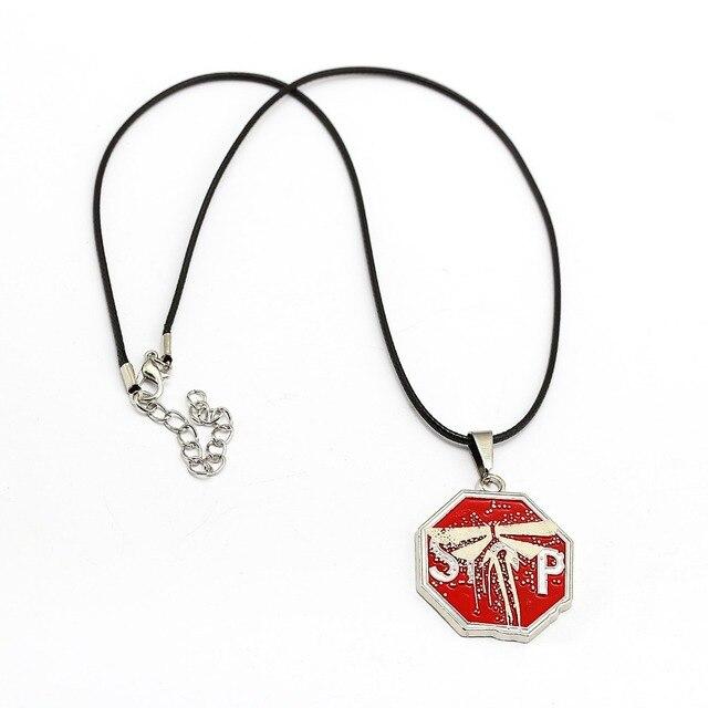 63e873fac لعبة تذكارية الأخيرة منا 2 المعادن قلادة قلادة حبل سلسلة القلائد اكسسوارات  هدايا مجوهرات سحر الهدايا