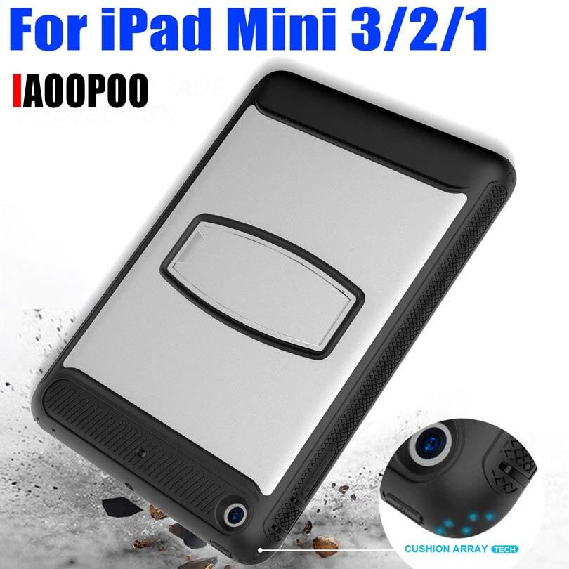 50pcs/Lot For iPad Mini 3/2/1 TPU + PC Hard Case Drop Shock Proof Armor Heavy Duty with Screen Protector IM427