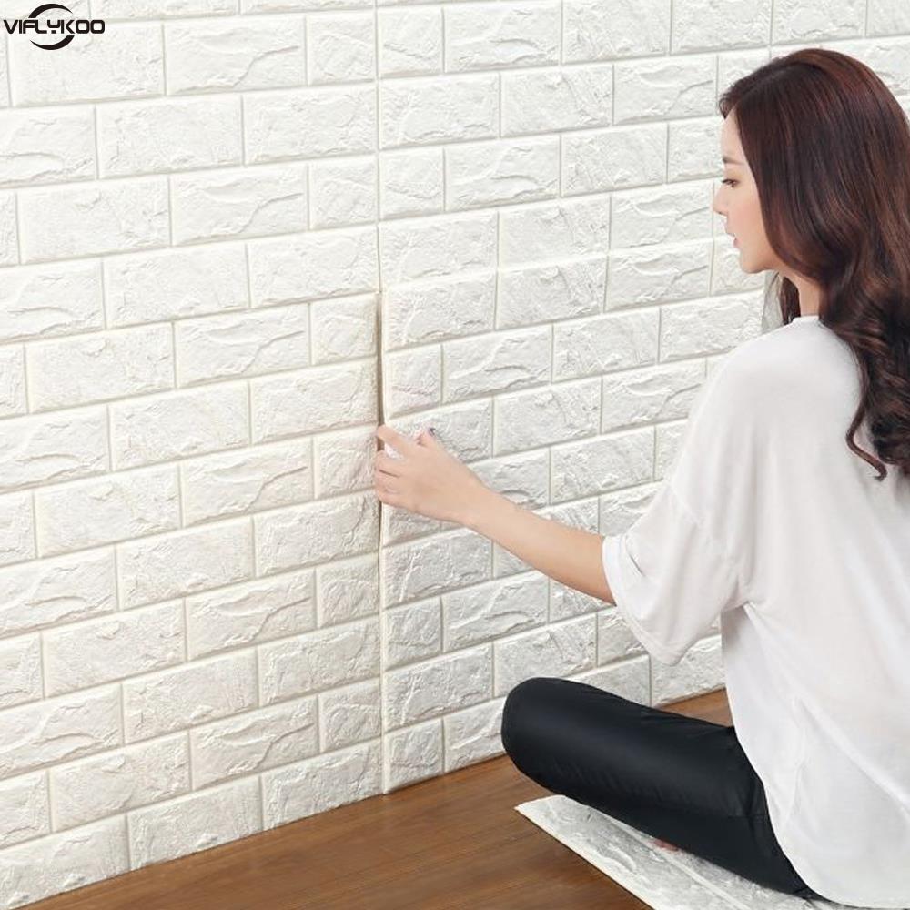 Compra diy pared de ladrillo online al por mayor de china - Papel pintado adhesivo pared ...