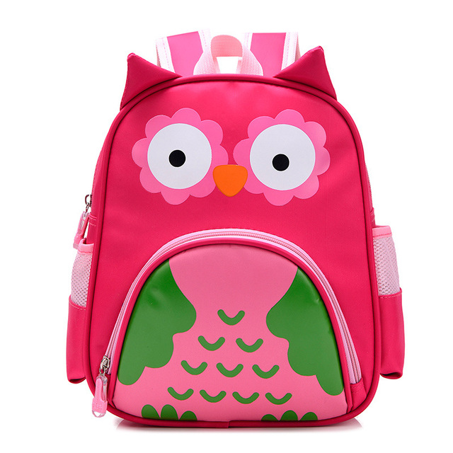Orthopedic Cute Owl Animals Baby Backpack Kids Toddler School Bags for  Girls 3-5 years Children ZOO families Kindergarten Bag 4b24f0b6b82d7
