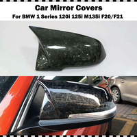 AN Forged Carbon Fiber For BMW 1 Series 120i 125i M135i M140i 2012 2018 year F20 F21 Side Wing Mirror Cover Shell Replace cap