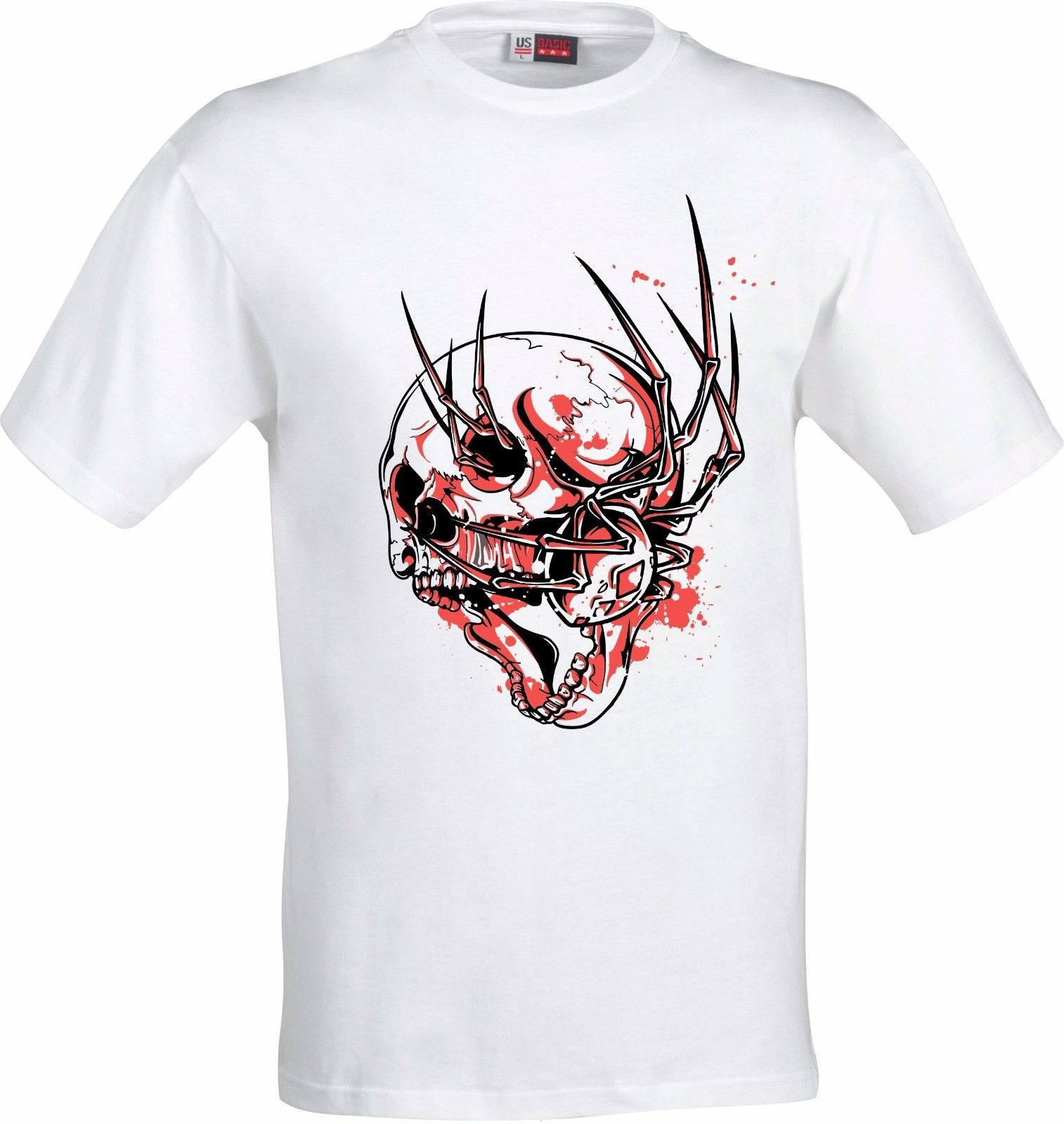 Spider In Skull Retro Gothic Full Color Sublimation T
