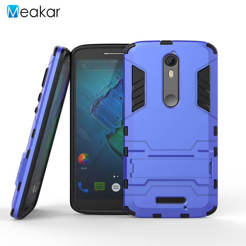 Shockproof Protection Stand 5.4for Moto X Force <font><b>Case</b></font> For Motorola Moto X Force <font><b>Droid</b></font> <font><b>Turbo</b></font> <font><b>2</b></font> Cell <font><b>Phone</b></font> Cover <font><b>Case</b></font>