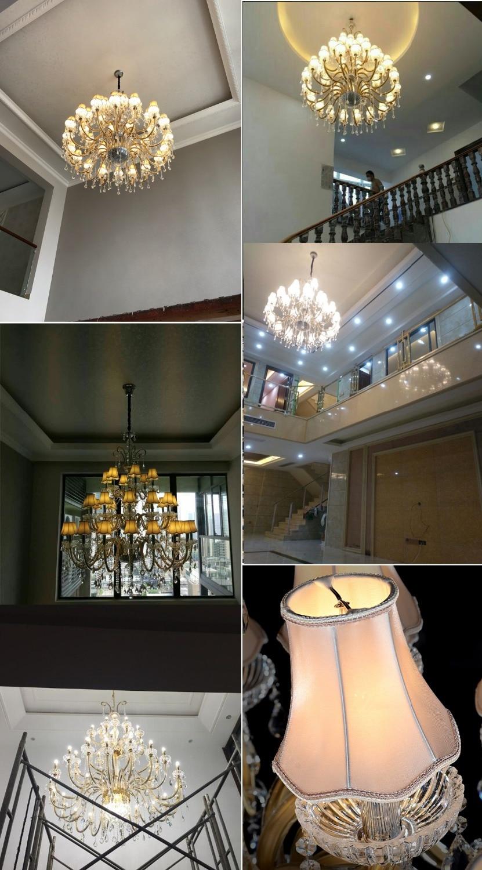 Candelabro grande de lujo Santuario moderno Candelabros con sombra - Iluminación interior - foto 4