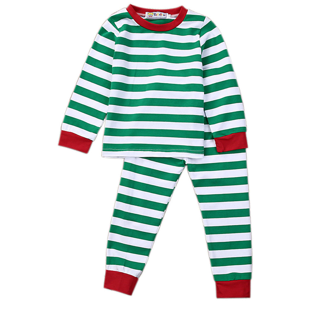 cb54adc26197 Christmas Family Pyjamas Nightwear Mom Daddy Baby Boy Girls Kids ...