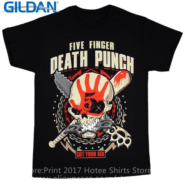 317858f993b Aliexpress.com   Buy 2017 Newest Fashion Men S Crew Neck Short Sleeve  Christmas Five Finger Death Punch Men S Zombie Kill Shirt from Reliable  five finger ...
