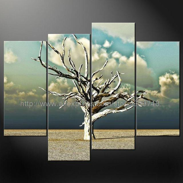 Superbe Lonely Tree Modern Cascade Art Many Sizes Free Postage Oil Painting Asian  Wall Art Painting Canvas